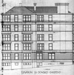 A drawing of the elevation to Douglas Gardens