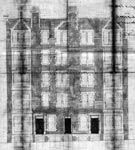 A drawing of the rear elevation of 17-19 Warrender Park Terrace, Edinburgh