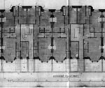 A drawing of the ground floor plans at Wellington Street Edinburgh