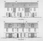 A drawing of the front and rear elevations at 17-27 Culbard Street, Elgin