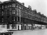 A photograph of Queens Park Terrace, Glasgow