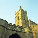 Bell tower in the Church of St Michael of Linlithgow and the Palace Gateway