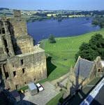 View from the bell tower of the Church of St Michael of Linlithgow
