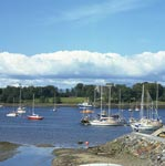 Busy anchorage at Dunstaffnage near Oban, Argyll & Bute