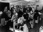 882 Squadron Pilots, HMS Searcher's Ready Room, 1945
