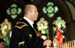 Actor Ross Kemp speaking as Rector of Glasgow University