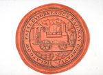 19th-century watercolour of the seal of the Paisley and Greenock Railway