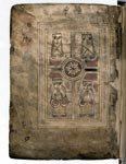 Pocket gospel book known as the Book of Deer, folio 01 verso