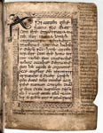 Pocket gospel book known as the Book of Deer, folio 05 recto