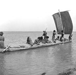 Caiouque (native boat) on Oxus River