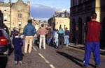 Ball game being played at Jedburgh