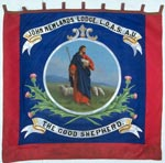 Banner of the Juvenile Section of the 'John Newlands' Lodge, No 2089, of the Loyal Order of Ancient Shepherds (Ashton Unity), Bathgate