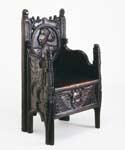 Armchair of carved oak, possibly 16th century