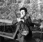 Basket making in Edinburgh, 1959