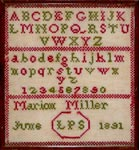 Child's Sewing Sampler, Leadhills, 1891