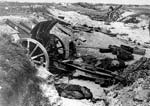 German artillery and dead c. 1916-1918