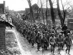 German prisoners on the march. c. 1916-1918