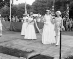 Davidson Mains Gala Day - Miss S Borthwick gala queen with members of her court