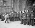 Funeral of 19 firemen who died in Glasgow Whisky Fire last week - Widows and relatives arrive for Requiem Mass at St Andrews Roman Catholic Cathedral Glasgow