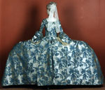 Mantua & petticoat (back), probably worn by Mary Holt, wife of 7th Earl of Haddington