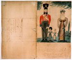 Picture, drawn by Royal Scots' soldier in letter to his parents