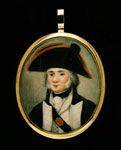 Miniature portrait, of unknown Royal Navy officer