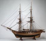 Model, of 18-gun brig