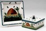 Honey box, drip tray & lid