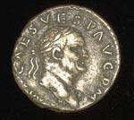 Coin (obverse), Denarius, of Vespasian