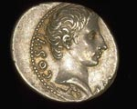 Coin (obverse), Denarius, of Nero