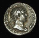 Coin (obverse), Denarius, of Trajan