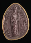 Seal impression (cast), of Bishop William Malvoisine