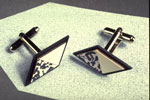 Cuff links, by Anne Finlay