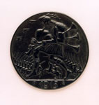 Medal, showing Death as a Scottish Piper