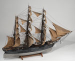 Model, of full-rigged ship