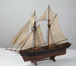 Model, of topsail schooner Jean