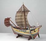 Model, of Roman grain ship