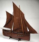 Model, of fifie fishing boat