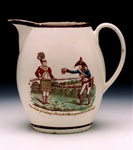 Jug, made to celebrate capture of French general Antoine-Francois Brennier by Corporal John McKay, 71st (Highland) Regiment