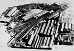 Aerial photograph of the Atlas and Hyde Park Railway Works, Springburn, c.1950