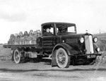 Bedford truck belonging to Howietoun Fish Farm, Stirling