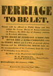Poster 'Ferriage to Let', 1865