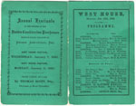 Annual Festivals and 1880 Calendar for Dundee Combination Poorhouses