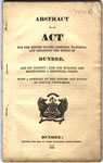 Abstract of an Act for the Better Paving, Lighting, Watching and Cleansing of the Burgh of Dundee and its Vicinity; Also for Building and Maintaining a Bridewell There