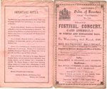 Ancient Order of Foresters, Festival Concert programme