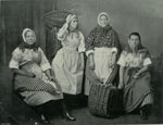 Newhaven fishwives in traditional costume