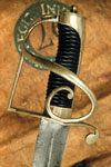Brass hilted cavalry sword