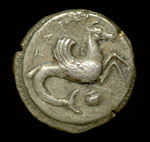 008 Ancient Greek silver didrachm of Tarentum (c500 BC)