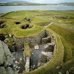 Ancient site of Jarlshof, Mainland Island, Shetland