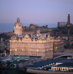 Balmoral Hotel and Calton Hill, Edinburgh